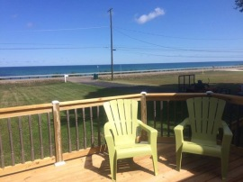 Beautiful spacious viewing deck to enjoy family, friends, and an unobstructed, spectacular panoramic Lake Erie view.